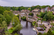 The Railway Viaduct Over The River Nidd At Knaresborough
