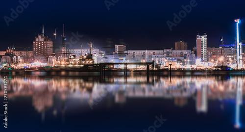 Fotomural Rostock night panoramic