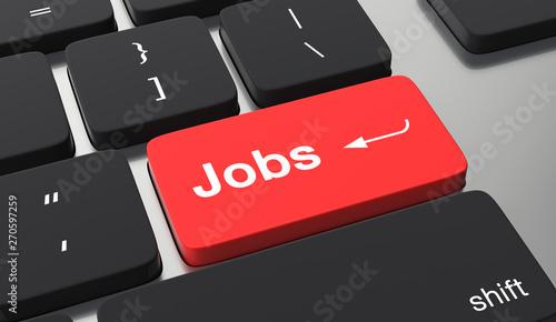 Fotomural  Find a job concept