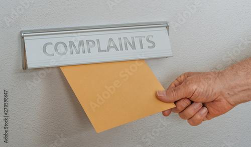 Photo A letterbox with the inscription Complaints