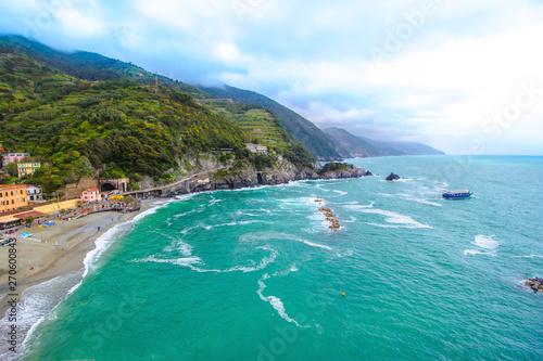 Monterosso al Mare, a village in the Cinque Terre, italy Tableau sur Toile