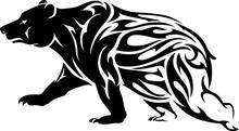 Bear Silhouette Tattoo, Abstra...