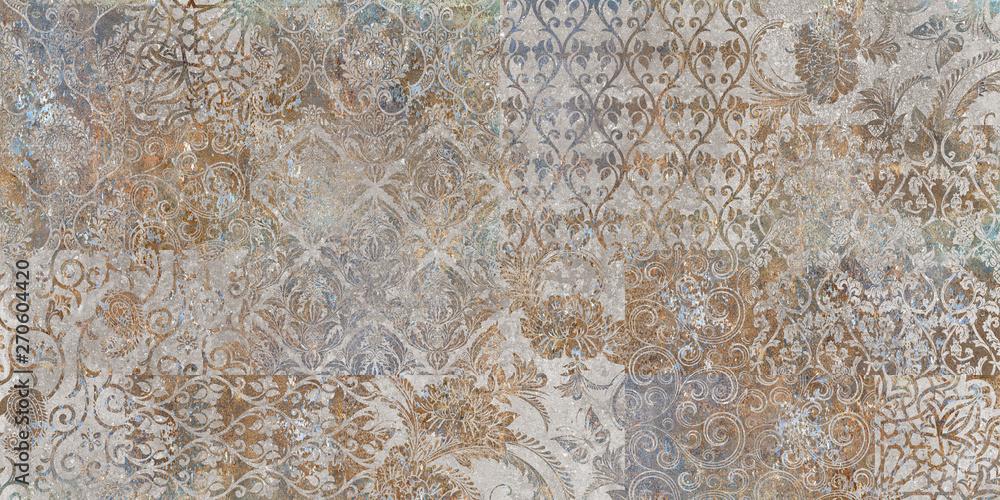 Fototapeta vintage floral background, patchwork