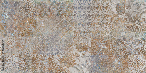 vintage floral background, patchwork - fototapety na wymiar