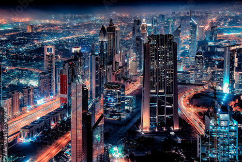 Dubai cityscape with the famous Sheikh Zayed Road Wallpaper Mural