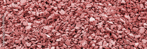 Stampa su Tela Red gravel stones for the construction industry