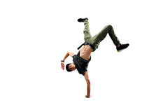 Isolated Male Hip Hop Dancer. ...