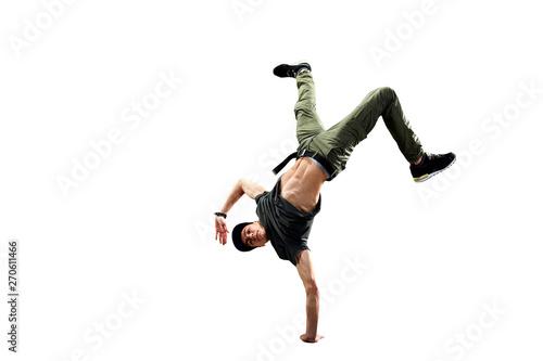 Obraz na plátně Isolated male Hip Hop Dancer