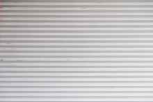 An Old Rolling Steel Door Texture For Background.