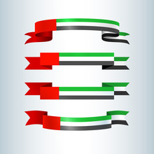 UAE Flag Ribbons Banners Ribbo...
