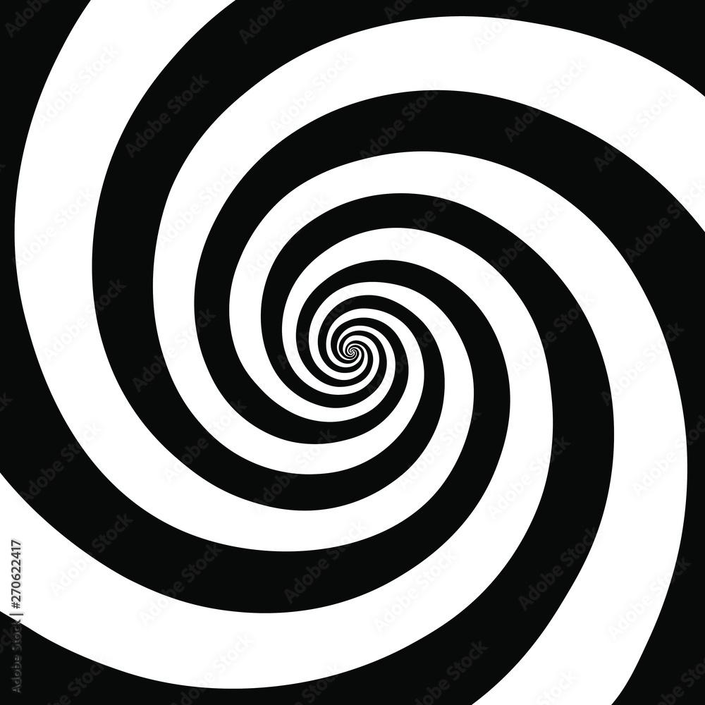 Fototapeta Hypnotic spiral background.Optical illusion style design. Vector illustration