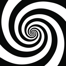 Hypnotic Spiral Background.Optical Illusion Style Design. Vector Illustration
