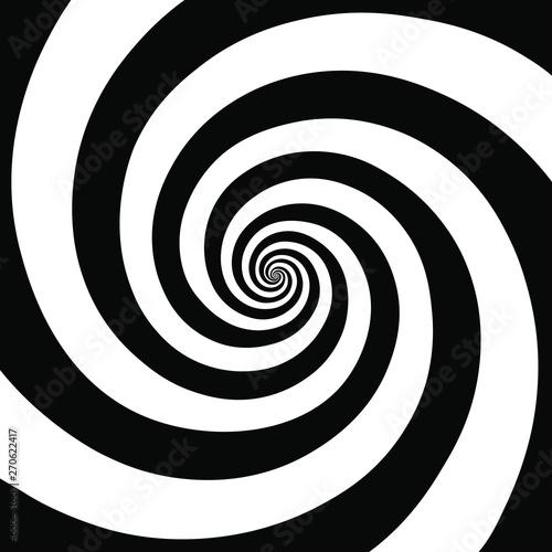 Obraz Hypnotic spiral background.Optical illusion style design. Vector illustration  - fototapety do salonu