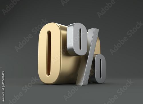 Fényképezés  Zero Percent - 3D Rendered Image