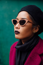 Portrait Of Asian Woman With Sunglasses