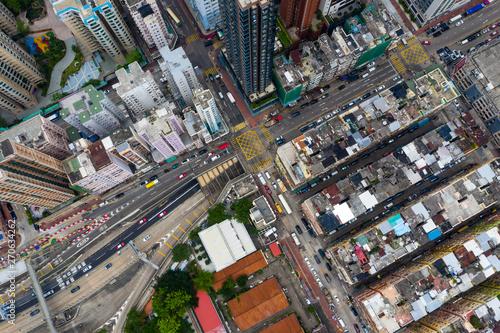 Foto op Plexiglas Barcelona Top view of Hong Kong residential district