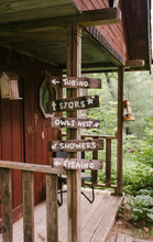 Camp Activities Signs By A Sma...