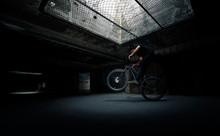 Man Riding Bicycle Underground