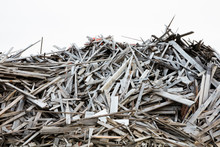 Large Pile Of Discarded Lumber