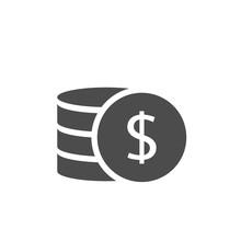 Dollar Coins Vector Icon