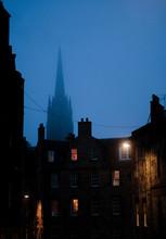 Edinburghs Street  At Dusk