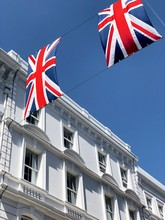 Union Jack Flags In Covent Garden, London