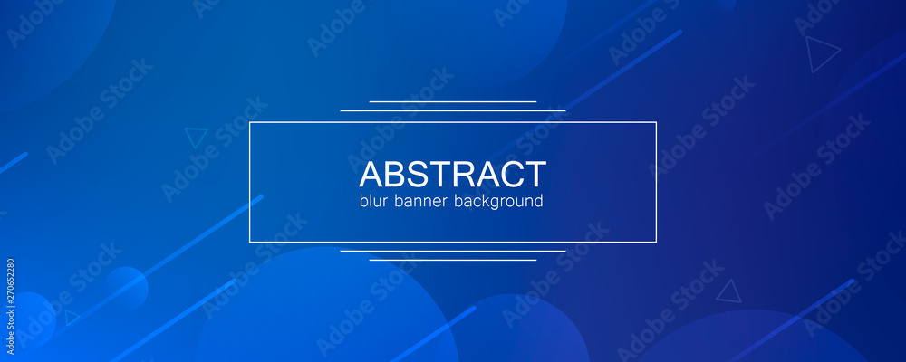 Fototapety, obrazy: Abstract banner with gradient shapes