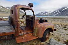 Greenland, East Greenland, US Airforce Base, Bluie East , Rusty Vehicle