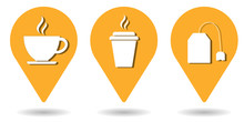 Location Pins For Coffee, Trin...