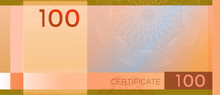 Voucher Template Banknote 100 ...