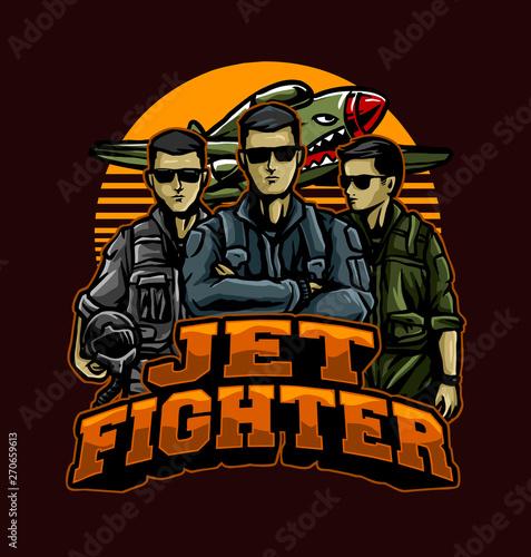 Valokuvatapetti jet fighter pilots