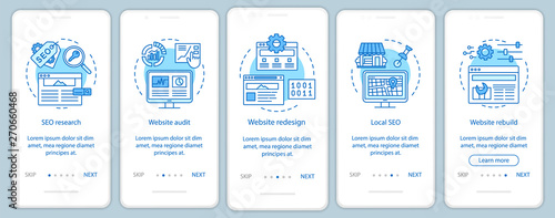 Obraz na plátně Web consulting onboarding mobile app page screen vector template