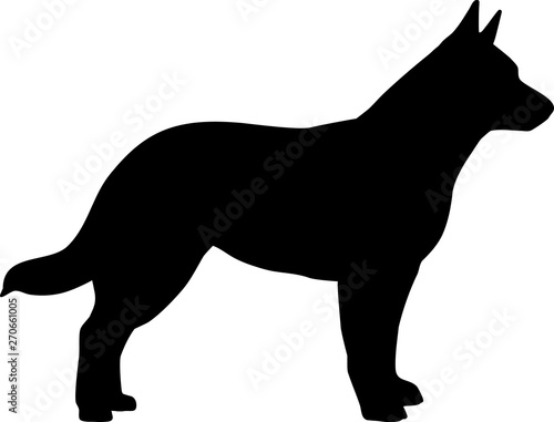Australian Cattle Dog silho...