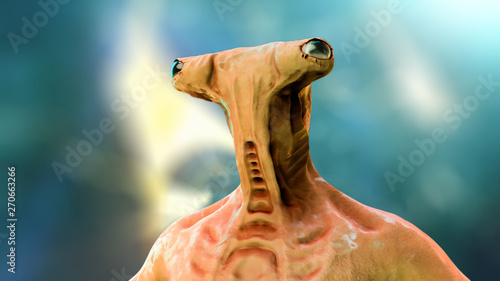 Photo sur Aluminium UFO Alien Calfidon, 3D illustration