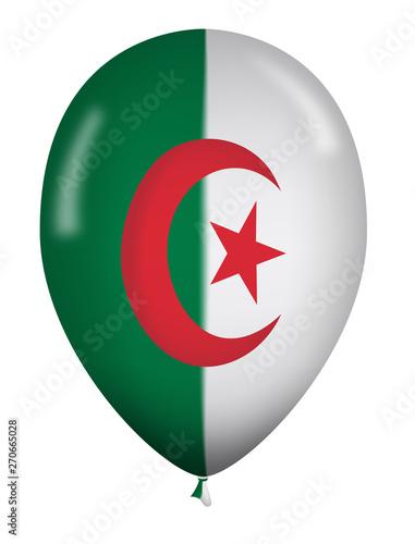 Fényképezés Illustration d'un ballon gonflable représentant le drapeau algérien
