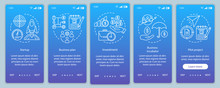 Business Industry Onboarding Mobile App Page Screen Vector Template