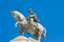 Equestrian Statue Of Vittorio Emanuele, Altare Della Patria, Piazza Venezia, Rome Italy