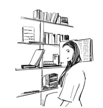 Girl In The Library. Booksshel...