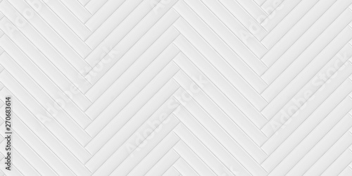 Türaufkleber Künstlich Soft convex wall panels, in white leather. Herringbone shape. High quality seamless realistic texture.