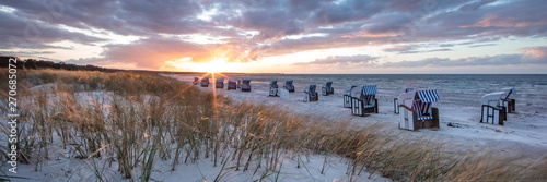 Canvas Prints North Sea abendstimmung am meer