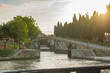 Fonserannes Locks, are a flight of staircase locks on the Canal du Midi near Béziers, Languedoc Roussillon, France.