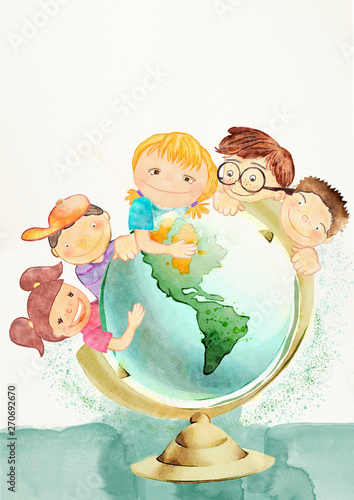 earth-day-education-concept-watercolor