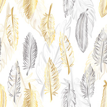 Seamless Pattern With Of Gold ...