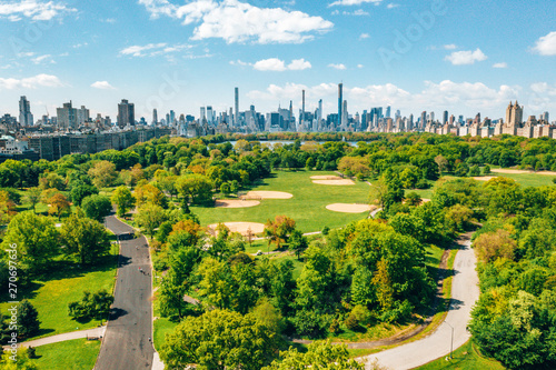 Central Park aerial view, M...