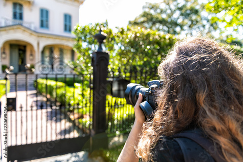 New Orleans, USA Old historic Garden district in Louisiana with green spring sum Wallpaper Mural