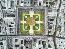 Above Place Des Vosges In Paris