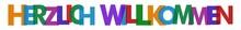 Nlcb7 NewLongColourfulBanner Nlcb - Deutsch (german Text) - HERZLICH WILLKOMMEN: Banner / Bunt / Einfach / Vorlage - Seitenverhältnis 8:1 - 8zu1 - Xxl G7700