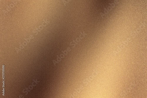 Polished bronze metal wall, abstract texture background Fotobehang
