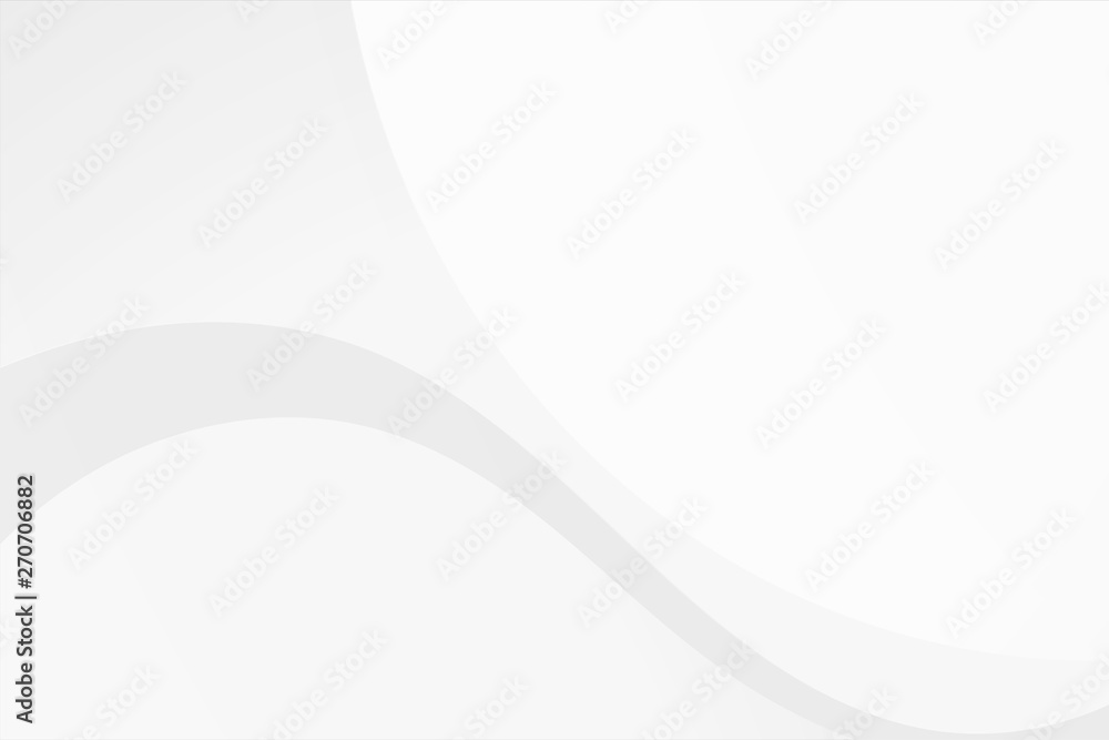 Fototapety, obrazy: White gradient abstract curve pattern on gray background.