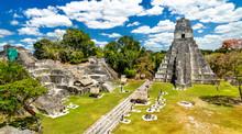 Temple Of The Great Jaguar At Tikal In Guatemala